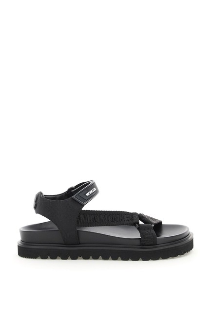 Item - Black Basic Flavia Logo Tape Sandals Size EU 38 (Approx. US 8) Regular (M, B)