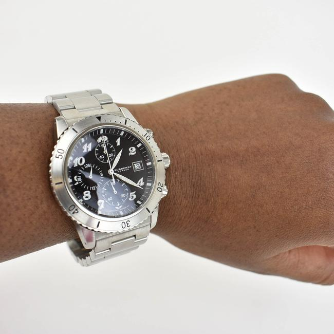 Burberry Silver Stainless Steel Logo Chronograph (Nm) Watch Burberry Silver Stainless Steel Logo Chronograph (Nm) Watch Image 12