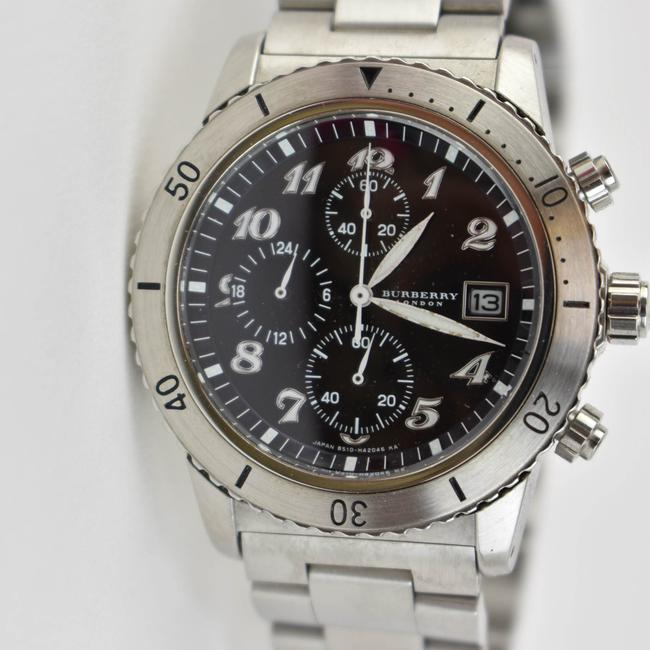 Burberry Silver Stainless Steel Logo Chronograph (Nm) Watch Burberry Silver Stainless Steel Logo Chronograph (Nm) Watch Image 3