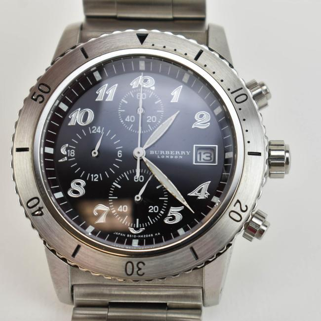 Burberry Silver Stainless Steel Logo Chronograph (Nm) Watch Burberry Silver Stainless Steel Logo Chronograph (Nm) Watch Image 10