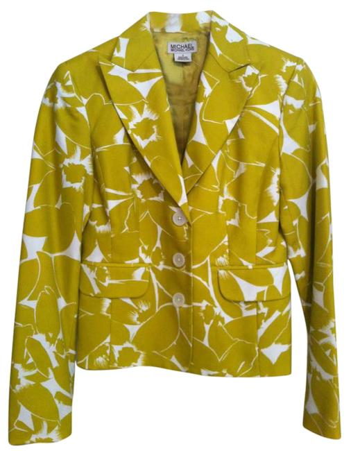 Michael Kors Summer Lime Green and White Blazer