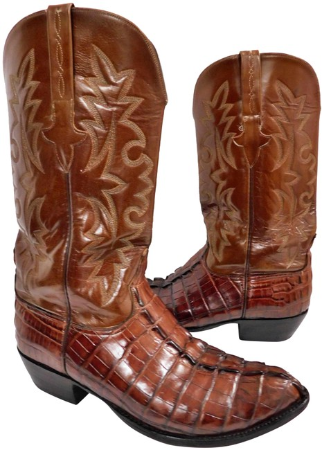 Item - Brown 1883 Savannah Tan Burnished Mad Dog Goat Cowgirl N4540 Boots/Booties Size US 7.5 Regular (M, B)