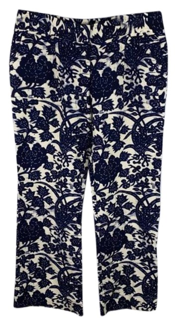 Item - Blue Cream Floral Printed Pants Size 12 (L, 32, 33)