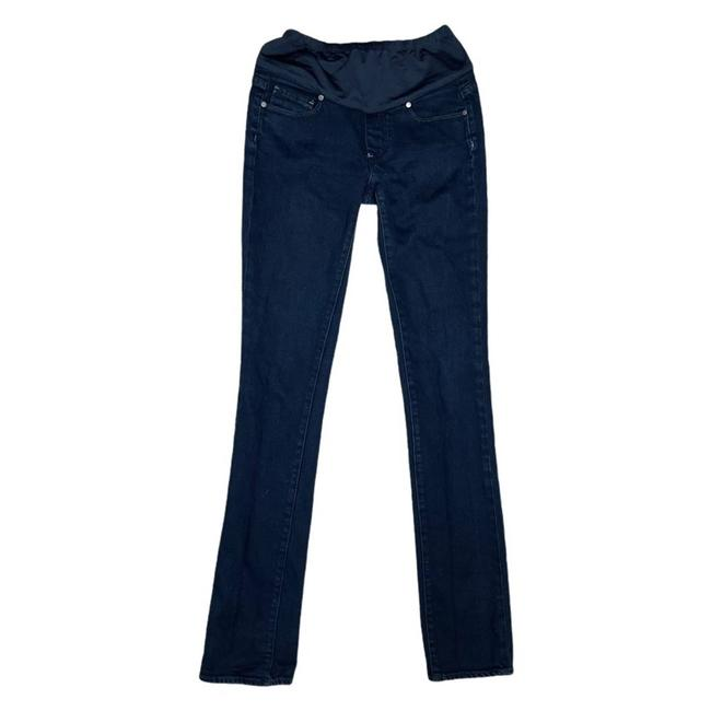 Item - Blue Dark Rinse Maternity Heights Wash Skinny Jeans Size 26 (2, XS)
