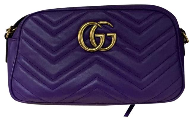 Item - Shoulder Marmont Gg Small Purple Leather Cross Body Bag