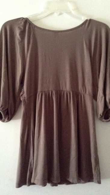 Lush Nordstrom Knotted Front T Shirt taupe