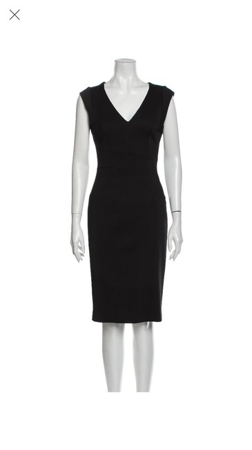 Item - Black Bustier Sheath Mid-length Work/Office Dress Size 8 (M)
