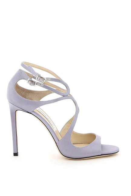 Item - Purple Lang Satin Sandals Size EU 39 (Approx. US 9) Regular (M, B)