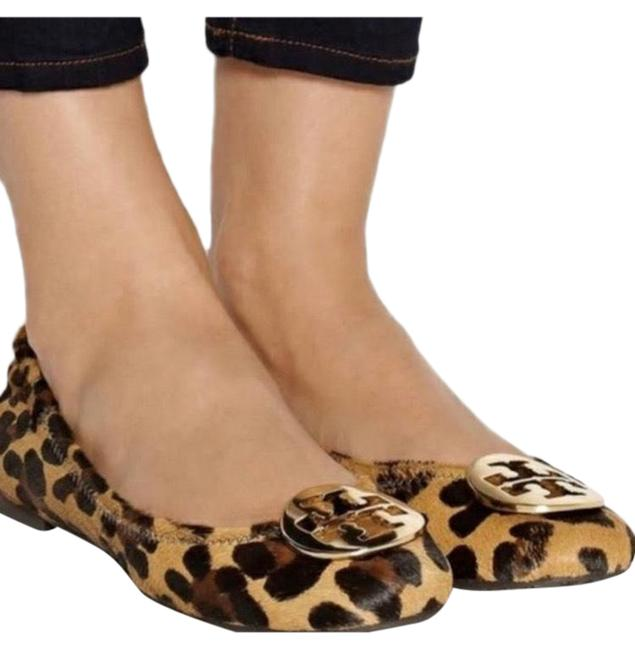 Item - Tan & Brown Reva Ponyhair Cheetah Flats Size US 8 Regular (M, B)