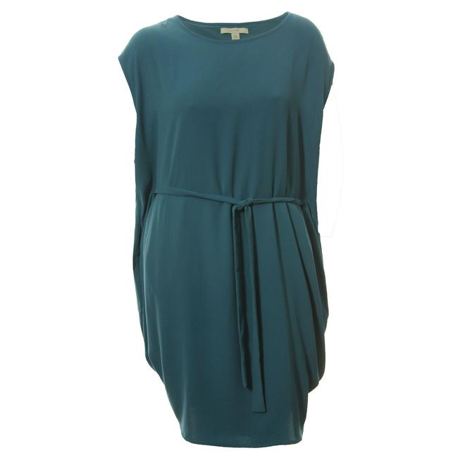 Item - Teal New 2x Cap Sleeve Belted Drape Mid-length Short Casual Dress Size 20 (Plus 1x)