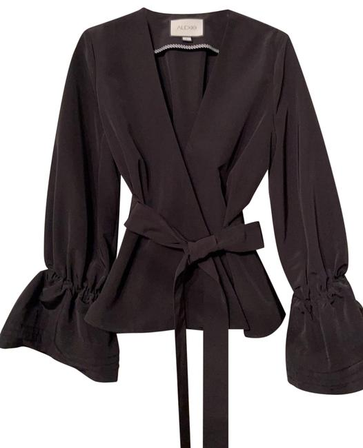 Item - Evening Wrap Blouse Black Top