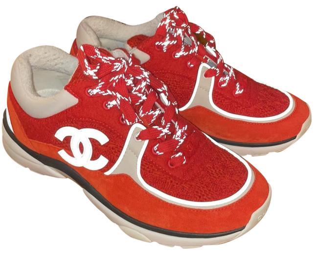 Item - Red/ White Sneakers Size EU 37.5 (Approx. US 7.5) Regular (M, B)