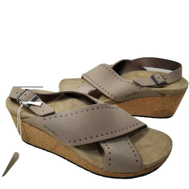 Item - Taupe Samira Biscuit Rivets Wedge Sandals Size EU 41 (Approx. US 11) Narrow (Aa, N)