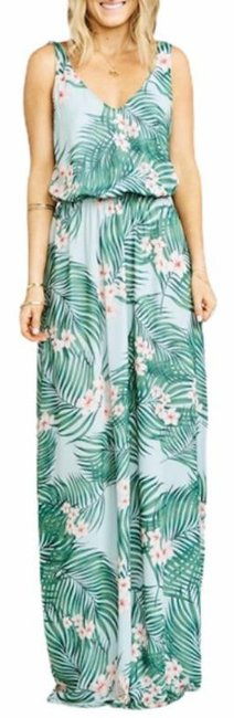 Item - Green Pink Kendall Casual Maxi Dress Size 4 (S)
