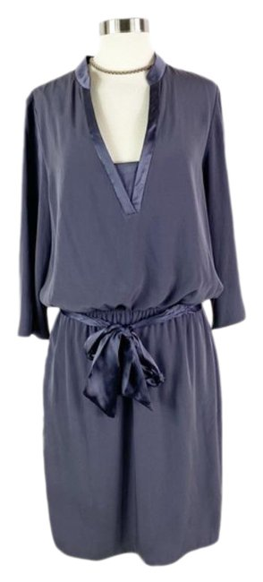 Item - Gray Belted Short Casual Dress Size 12 (L)