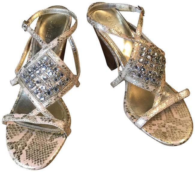 Item - Snake Skin Rhinestone Strap Sandals Size US 9.5 Regular (M, B)
