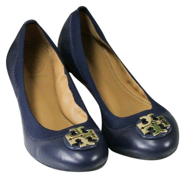 Item - Blue 61551 Claire Nappa Leather Size-6 Elastic Slip On Ballet Flats Size US 6 Regular (M, B)