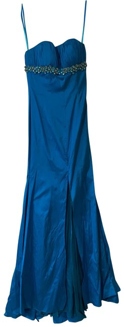 Item - Blue Stoned Gown Long Formal Dress Size 0 (XS)