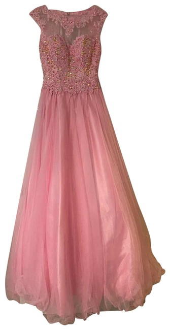 Item - Pink Ball Gown Long Formal Dress Size 0 (XS)