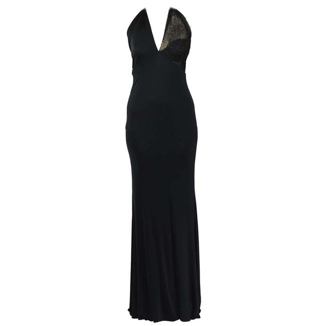 Item - Black 90-s Vintage Gianni Couture Embellished Gown Long Night Out Dress Size 8 (M)