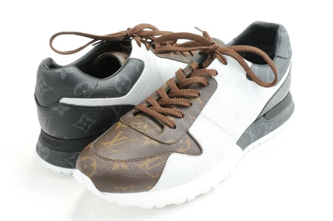 Item - Brown/White/Gray Run Away Sneakers Shoes