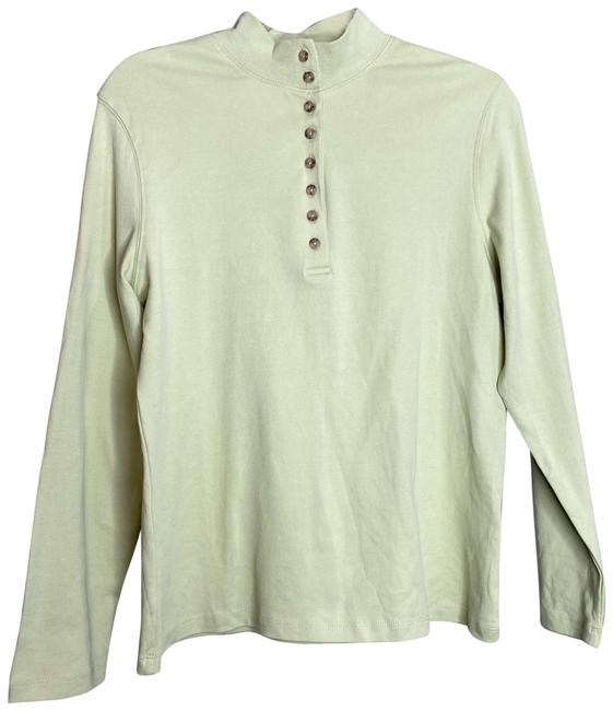 Item - Green Essential Knit Long Sleeve Pastel Lime Henley Tee Shirt Size 8 (M)