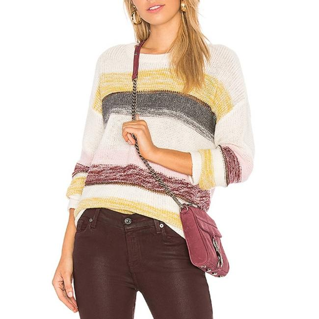 Item - Rainbow Striped Knit Cream Sweater