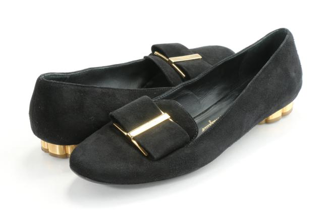 Item - Black Suede Loafer with Oversized Bow Flats Size US 6 Narrow (Aa, N)