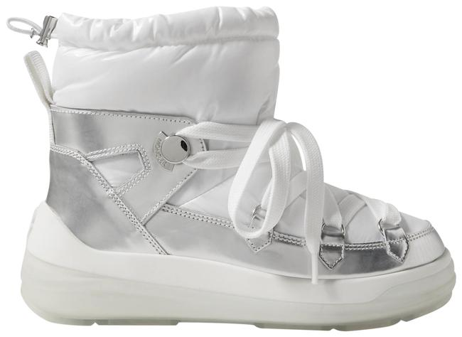 Item - White Insolux Metallic Leather and Padded Shell Ankle Boots/Booties Size EU 38.5 (Approx. US 8.5) Regular (M, B)