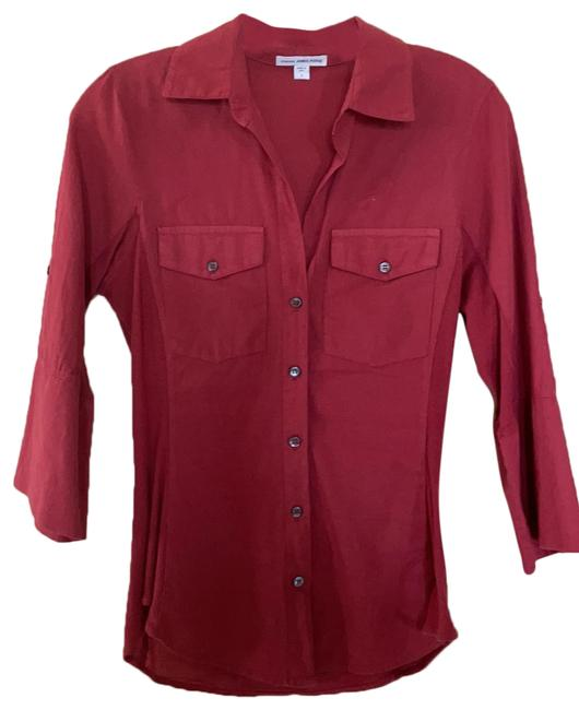 Item - Red Standard Button-down Top Size 2 (XS)