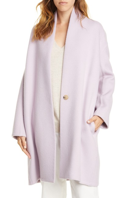 Item - Lily Stone Wool Collarless Single Button Closure Coat Size 4 (S)
