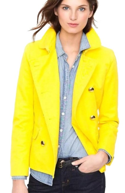 Item - Yellow Gold Trudy Double Breasted Coat Size 2 (XS)