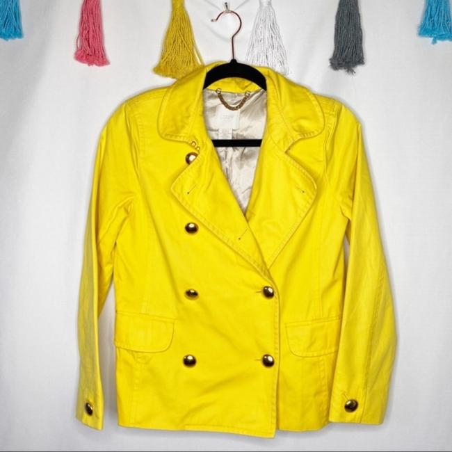 J.Crew Yellow Gold Trudy Double Breasted Coat Size 2 (XS) J.Crew Yellow Gold Trudy Double Breasted Coat Size 2 (XS) Image 2