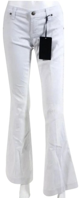 Item - White Mid Rise Tall Wide Flare Leg Jeans Size 29 (6, M)