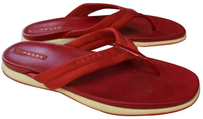 Item - Red Thongs Flats Slip 10 10.5 M Sandals Size EU 41 (Approx. US 11) Regular (M, B)