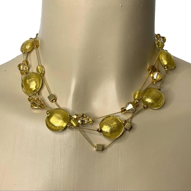 Item - Gold Beaded Statement Necklace