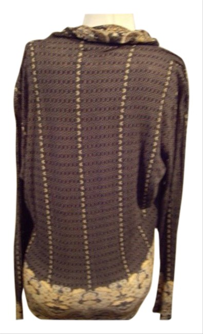 Item - Brown Cowl Neck Lightweight Knit Tunic Size 10 (M)