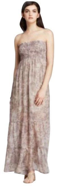 Item - Lavender Leopard Silk Smocked Long Casual Maxi Dress Size 4 (S)