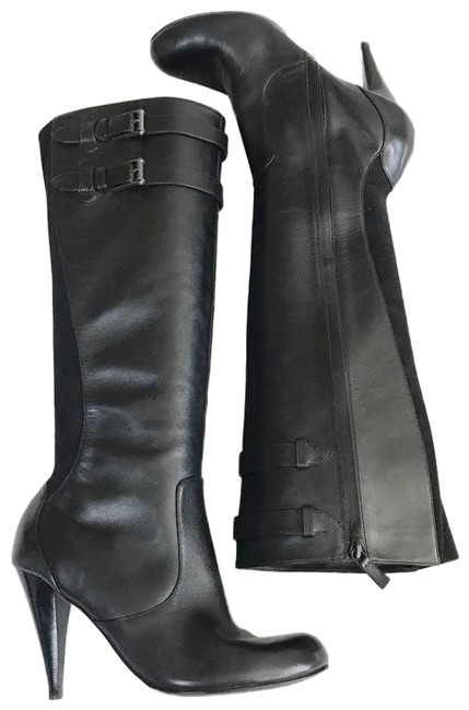 Item - Black Jalisa Buckle Accent Leather Boots/Booties Size US 9 Regular (M, B)