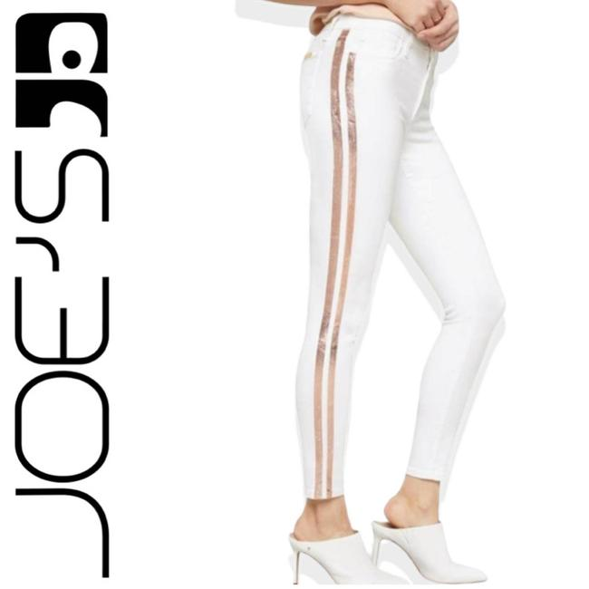 Item - White The Icon Mid-rise Striped Skinny Jeans Size 32 (8, M)