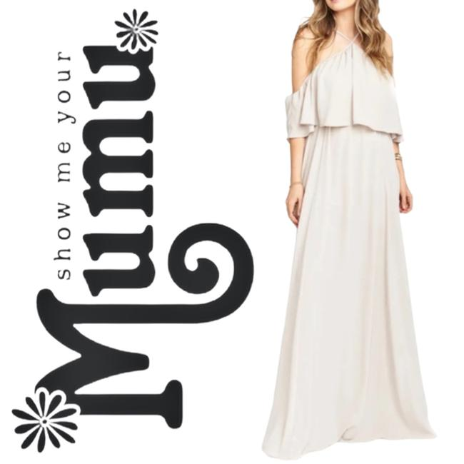Item - Cream XS Rebecca Ruffle Maxi Feminine Bridesmaid/Mob Dress Size 2 (XS)