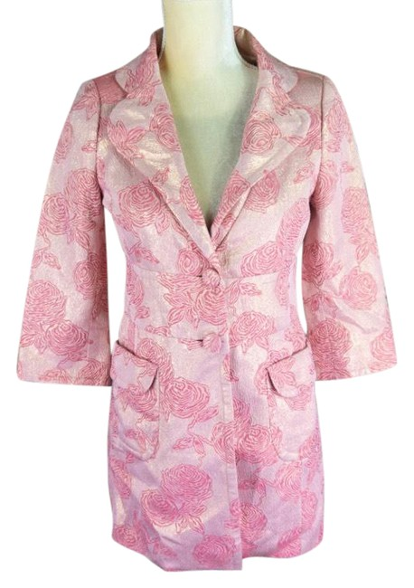Item - Pink Rose Embroidered Coat Size Petite 4 (S)