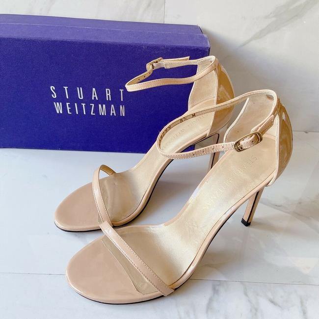 Item - Nude Leather Nudist High Heel Ankle Strap Sandals Size US 8.5 Regular (M, B)