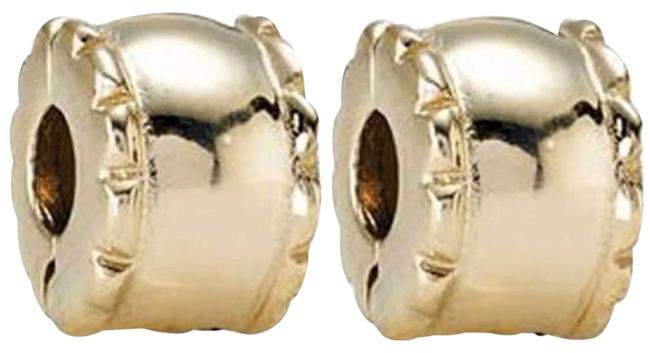 Item - 14k Gold Set Of Two Beveled Clip 750256 In Charm