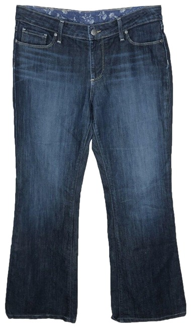 Item - Blue Dark Rinse Womens Hills Boot Cut Denim Wash Premium Classic Flare Leg Jeans Size 31 (6, M)