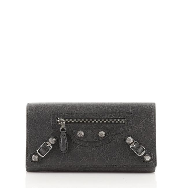 Item - Gray Giant Money Flap Leather Wallet