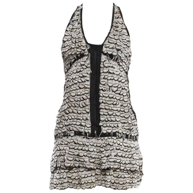 Item - Black/White Tom Ford For Feather / S 2003 Short Cocktail Dress Size 6 (S)