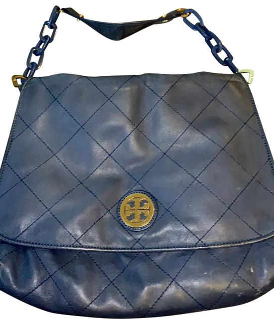Item - Tote Navy Leather Hobo Bag