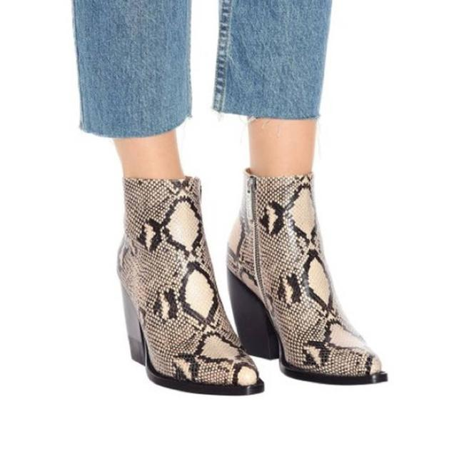 Item - Tan Rylee Python Embossed Leather Boots/Booties Size EU 40 (Approx. US 10) Regular (M, B)