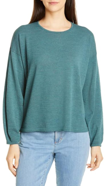 Item - L New Large Washable Round Neck Green Sweater